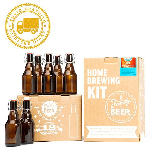 Kit cerveza artesanal + 12 Botellas Flip Top