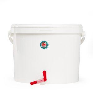 Fermentador de plástico de 16 litros con grifo