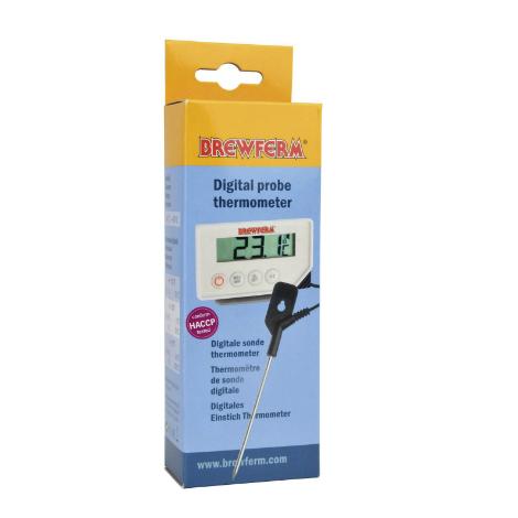 Termómetro digital con sonda caja