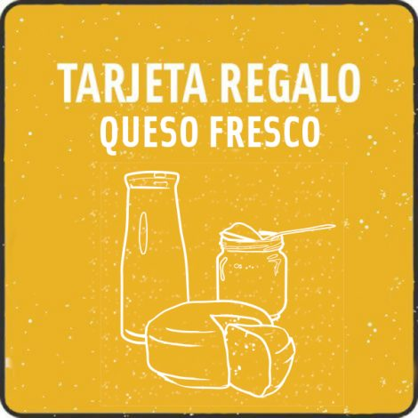 Tarjeta regalo curso queso fresco